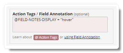 Fields Notes Action Tag