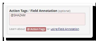 Shazam Action Tag